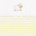 """Fabric Sample in yellow """"Hopper"""" & white """"Primel"""" with 'Sheep' & 'Ric Rac'"""
