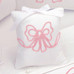 "Musical Pillow with ""Embroidered Bow"""