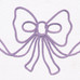 """Embroidered Bow"" in lavender"