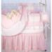 "Crib Ensemble in pink ""Hopper"" & ""Primel"" with 'Sheep' & 'Ric Rac'"