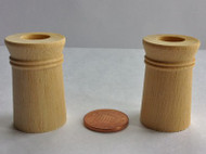 Two Wooden Chimney Pots