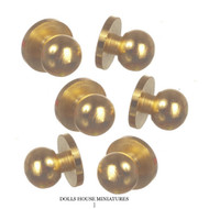 Brass Door Knobs Three Pairs