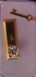 Diamond Door Handles & Keys, Pair