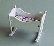 White Rocking Cradle / Cot (1)