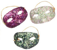 Glitter Party Mask Choice of Three Colours