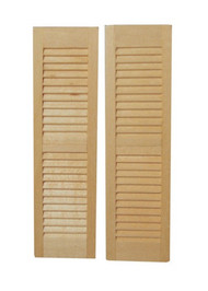 Pair of Wooden Louvre Window Shutters