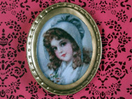 Oval Framed Picture of a Girl