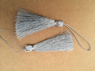 Pair of Silver Tassels
