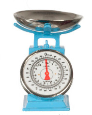 Blue & Chrome Weighing Scale