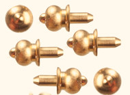 Six Brass Door Knobs