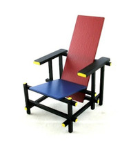 Red & Blue Gerrit T Rietveld Chair