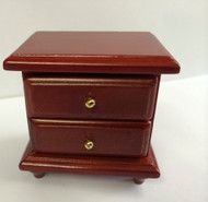 Two Drawer Mahogany Bedside Cabinet