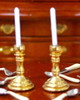 Gold Candlesticks Pair