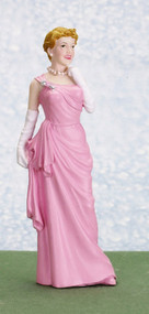 Resin Female Doll in a Pink Dress