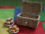 Straw Picnic Hamper Basket