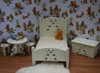 White Nursery Bedroom Set Teddy Bear Theme
