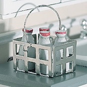 Crate with Four Milk Bottles