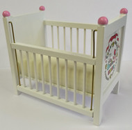 White Cot with ABC Design