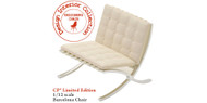Mies Barcelona Designer Chair in White Limited Edition