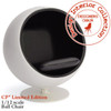 Eero Arunio Ball Chair In White & Black (Limited Edition)