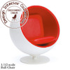 Eero Arunio Ball Chair In White & Red