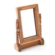 Antique Oak Swivel Mirror