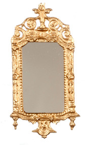 Light Gold Ornate Victorian Mirror