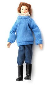 Doll In Wellingtons 153mm Tall