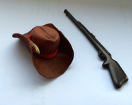 Brown Cowboy Hat / Rifle
