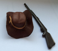 Dark Brown Cowboy Hat / Rifle