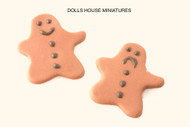 Dolls House Miniature Two Gingerbread Men