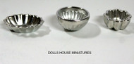 Silver Jelly Moulds Assorted Sizes