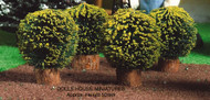 Dolls House Miniature Four Small Round Bushes