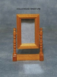 Dolls House Miniature Swivel Mirror in Light Wood
