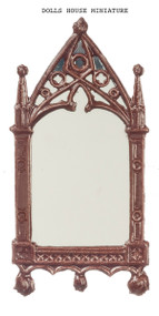Cathedral Mirror Frame Finished in Brown Paint