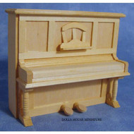 Plain Wood Piano with Opening Lid