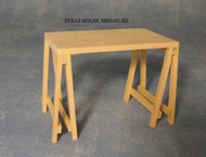 Plain Wood Trestle Table
