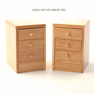 Pair of Pine Modern Bedside Cabinets