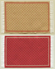 Reversible Woven Rug, One Side Cream, One Side Red