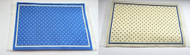 Reversible Woven Rug, One Side Blue, One Side Beige