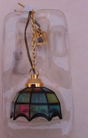 Coloured Tiffany Hanging Lamp 12 Volt