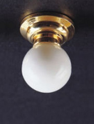 Ceiling Lamp With Removable White Globe 12 Volt