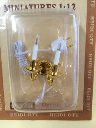 Double Candle Wall Lamp 12 Volt
