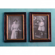 Two Black & White Wood Framed Pictures