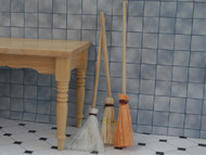 Set Of Three Wooden Brooms