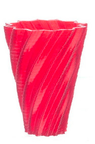 Blue Star Vase In Red