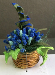 Blue Flowers in a Basket