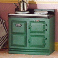 Green Resin Aga Style Stove