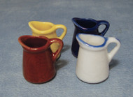 Set Of Four Different Coloured Jugs