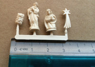 Four Piece Christmas Nativity Figures (Ivory Colour)